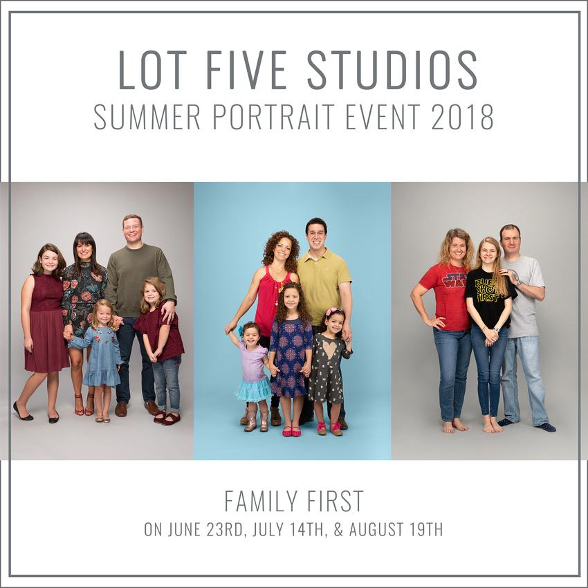 Lot Five Studios Family Portrait Session Summer 2018 Houston